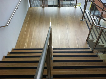 Oak Staircase after Junckers FRICTION+ applied