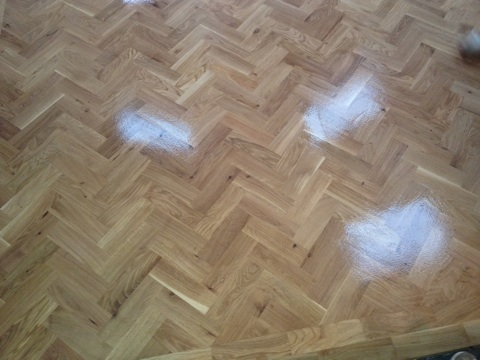 New Oak Parquet Wood Block Floor Installation by Woodfloor-Renovations