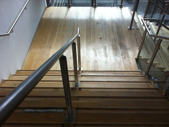 Oak Staircase Before Junckers FRICTION+ applied