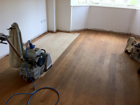 Solid Oak Floor Sanding in North Wales by Woodfloor-Renovations