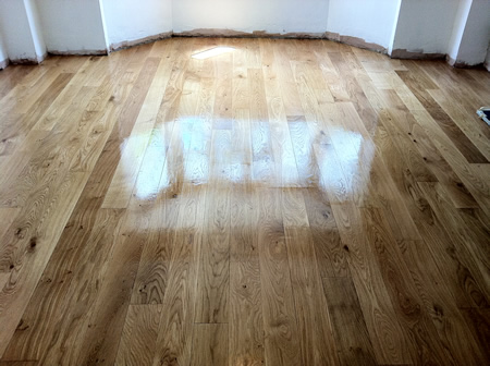 Oak Wood Flooring Restoration in North Wales by Woodfloor-Renovations