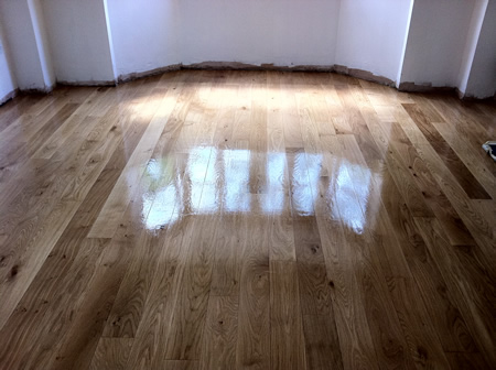 Oak Floor Restored in North Wales by Woodfloor-Renovations