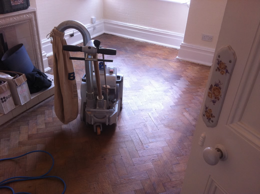 Pine Parquet Wood Block Restored by Woodfloor-Renovations