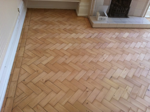 Pine Parquet Block Sand and Seal in North Wales