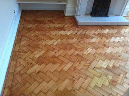 Pine Parquet Sand and Seal by Woodfloor-Renovations