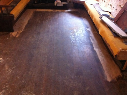 Oak Floor in Pub Before