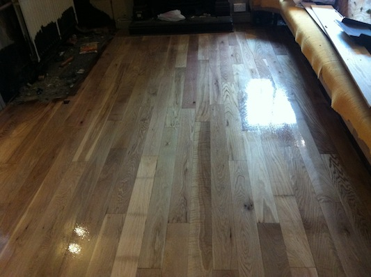 Oak Floor in Pub After