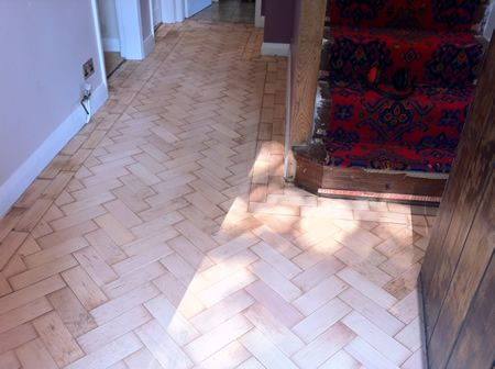 Repaired Parquet Flooring in Prestatyn North Wales