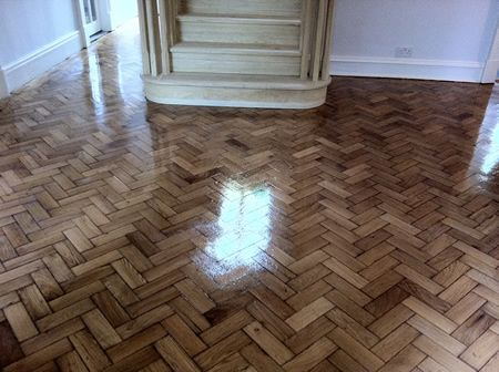 Oak Parquet Floor Renovated and Fully Restored by Woodfloor-Renovations
