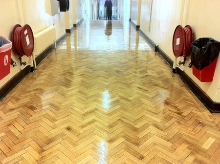 Oak Parquet Flooring Completely Transformed in North Wales by Woodfloor-Renovations