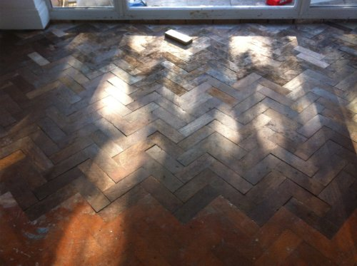 Reclaimed Parquet Block Floor Fitted in Cheshire by Woodfloor-Renovations