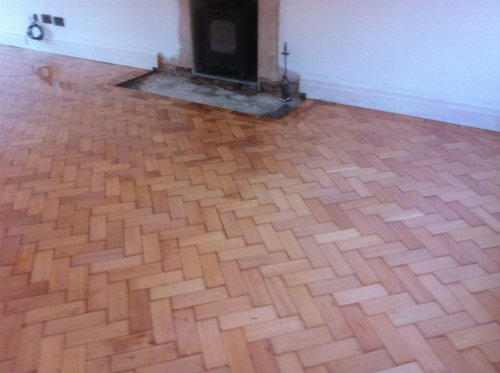 Columbian Pine Parquet Flooring Restored in Cheshire by Woodfloor-Renovations