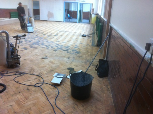 Professional Wood Floor Sanding at Stalybridge Church Hall in Cheshire