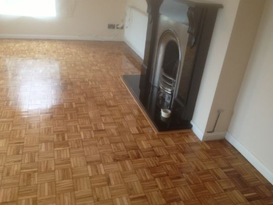 Oak Mosaic Parquet Repaired and Restored in Wrexham by Woodfloor-Renovations
