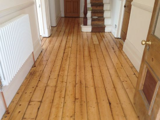 Restored Pine Floorboards in Wrexham by Woodfloor-Renovations
