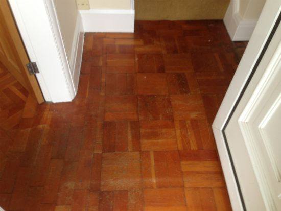 Douglas Fir Parquet Restored in Chester by Woodfloor-Renovations