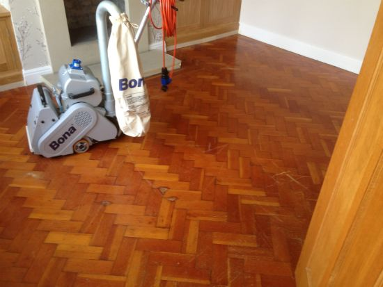 Columbian Pine Parquet Renovated in Chester