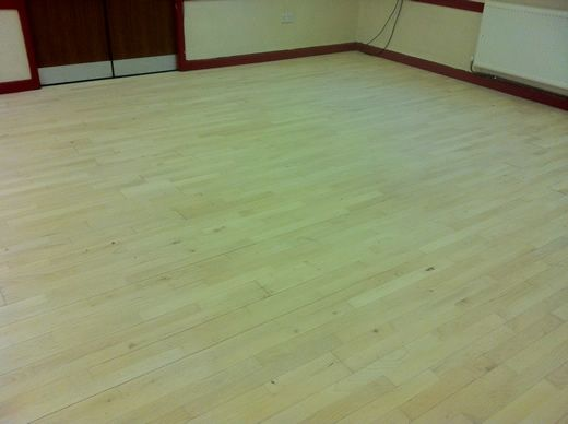 Beech Flooring Sanded and Sealed in North Wales