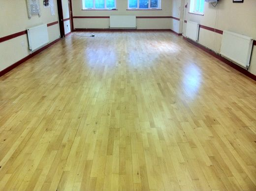 Junckers Beech Hardwood Flooring Sanded and Sealed in North Wales by Woodfloor-Renovations