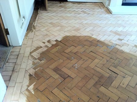 Columbian Pine Parquet Wood Floor Repairs and Restoration in Mold North Wales