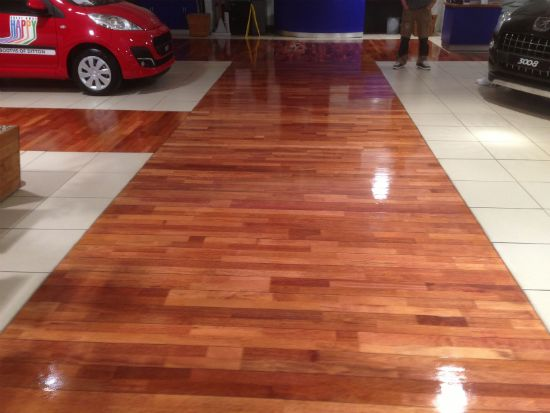 Junckers Merbau Ships Decking Floor looking magnificent