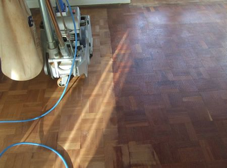 More Floor Sanding of the Mosaic Parquet Flooring