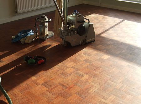 Just about start Sanding the Floor in Shrewsbury