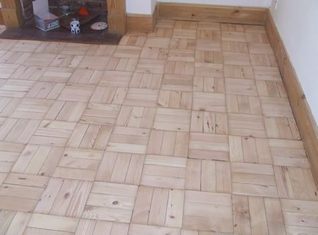 Pine Basket Weave Pattern Parquet Fully Sanded and Prepared