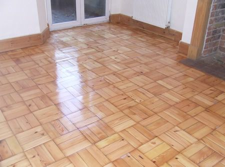 Basket weave Pattern Pine Wood Parquet Floor