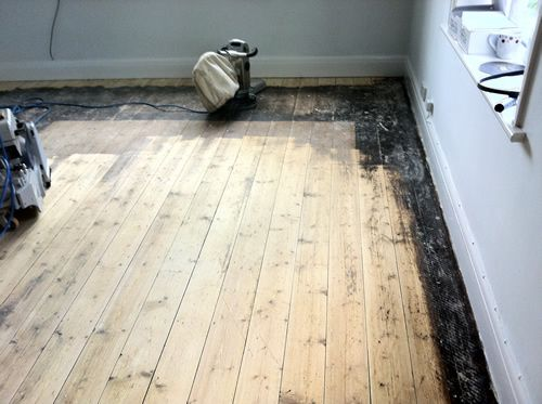 Old Pine Floorboards Renovated in Cheshire by Woodfloor-Renovations