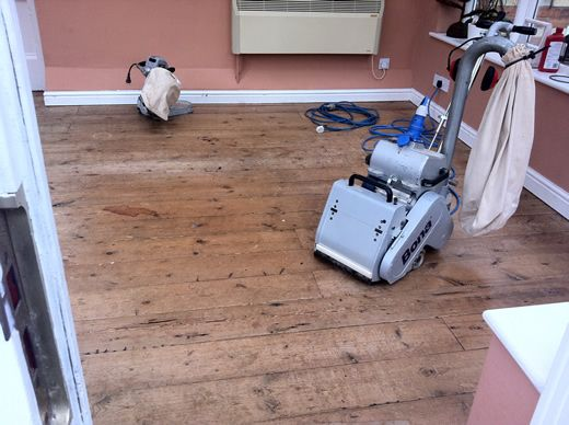 Floor Sanding and Sealing Chester, Pitch Pine Floorboards by Woodfloor-Renovations
