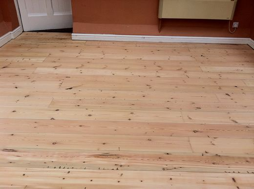 Cheshire Floor Sanding and Sealing Pitch Pine Reclaimed Floorboards