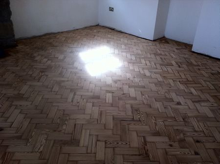 Pitch Pine Parquet Floor Renovation in Conwy North Wales