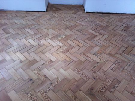 Pitch Pine Parquet Block Floor Renovations in Conwy North Wales