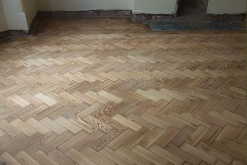 Pitch Pine Parquet Wood Block Floors Restored in North Wales