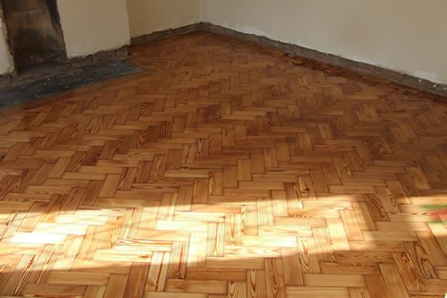 Pitch Pine Wood Floors Restored in North Wales by Woodfloor-Renovations