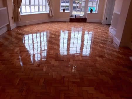Parquet Wood Block Floor Restoration and Renovation in North Wales