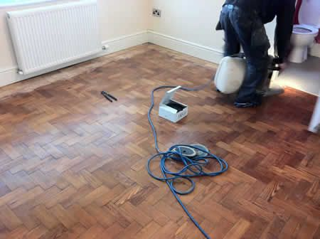 Pitch Pine Wood Block Floors Restored in North Wales by Woodfloor-Renovations