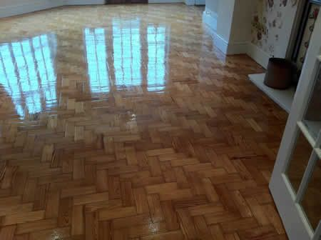 Parquet Wood Block Floor Sanding and Sealing in North Wales by Woodfloor-Renovations