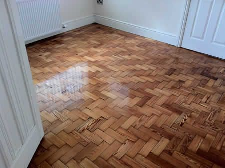 Parquet Wood Floor Sanding and Sealing in North Wales by Woodfloor-Renovations