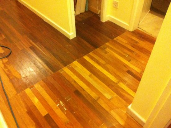 Mahogany Hardwood Flooring Repairs and Floor Sanding and Sealing in Prestatyn North Wales by Woodfloor-Renovations