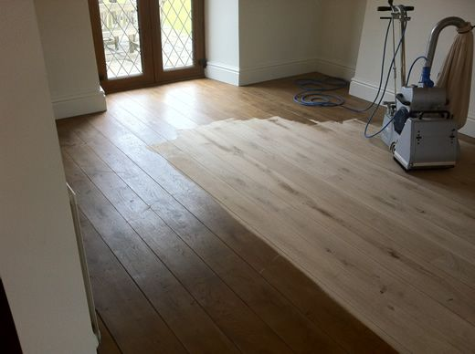 Rustic Oak Hardwood Floor Sanded, Sealed, Restored in North Wales by Woodfloor-Renovations