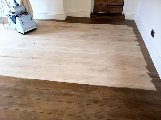 Rustic Oak Flooring Sanded, Sealed, Restored in North Wales by Woodfloor-Renovations