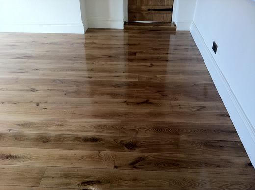 Rustic Oak Hardwood Floors Sanded, Sealed, Restored in North Wales by Woodfloor-Renovations