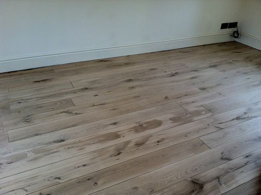 Rustic Oak Hardwood Flooring Sanded, Sealed, Restored in North Wales