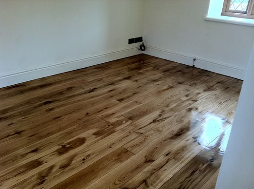 Rustic Oak Wood Floors Sanded and Sealed in North Wales by Woodfloor-Renovations