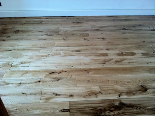 Rustic Oak Hardwood Floors Sanded, Sealed and Restored in North Wales by Woodfloor-Renovations