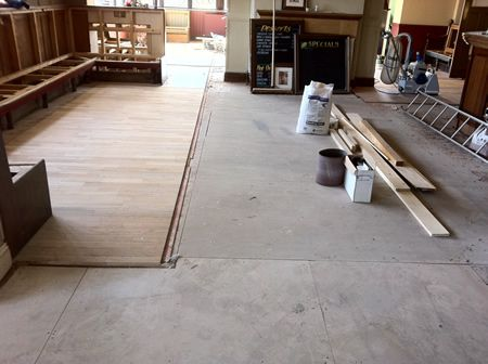 Wood Floor Renovation at the Millbank Pub in Rhyl North Wales
